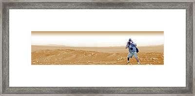 Photographer On Mars Framed Print