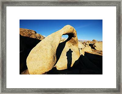 Photographer's Shadow Framed Print by Michael Courtney