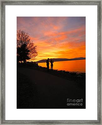 Photographing The Flames Framed Print