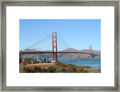 Photographing The San Francisco Golden Gate Bridge . 7d7787 Framed Print by Wingsdomain Art and Photography