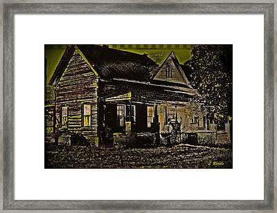 Photos In An Attic - Homestead Framed Print by Leslie Revels Andrews