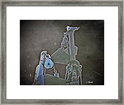 Photos In An Attic - Of The Fog Framed Print by Leslie Revels Andrews