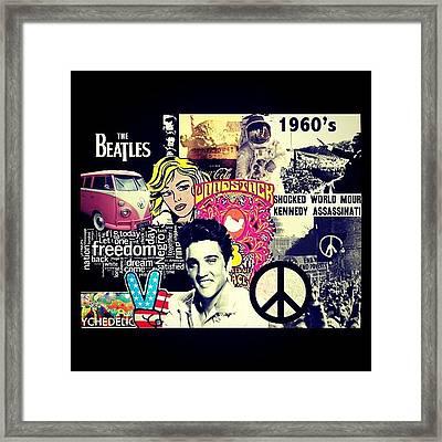 Photoshop - 60's Framed Print