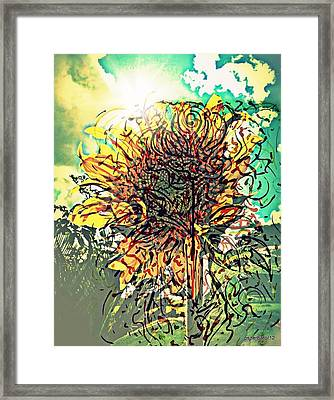 Phototropism Solitary Framed Print by Paulo Zerbato
