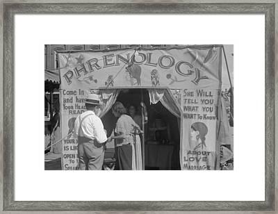Phrenology Readers Carnival Attraction Framed Print