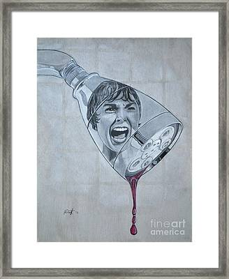 Phsycho Framed Print by Joe Dragt