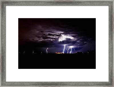 Phx Night Lightning 6 Framed Print by Kenny Jalet