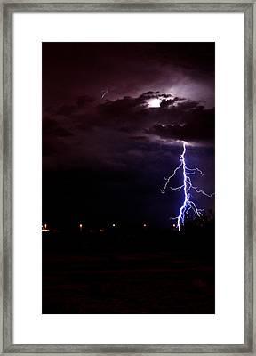 Phx Night Lightning 8 Framed Print by Kenny Jalet