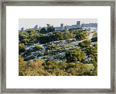 Phyle Fortress Framed Print by Andonis Katanos