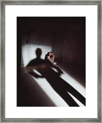 Physical Abuse Framed Print