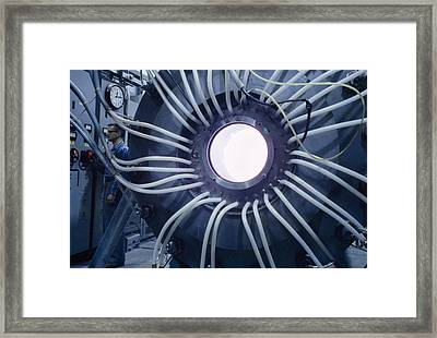 Physicist At Switchboard Sends High Framed Print