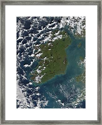 Phytoplankton Bloom Off The Coast Framed Print by Stocktrek Images