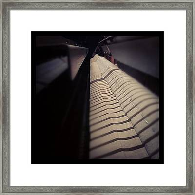 Piano Hammers. #picoftheday Framed Print