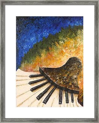 Piano Jazz Framed Print by Draia Coralia