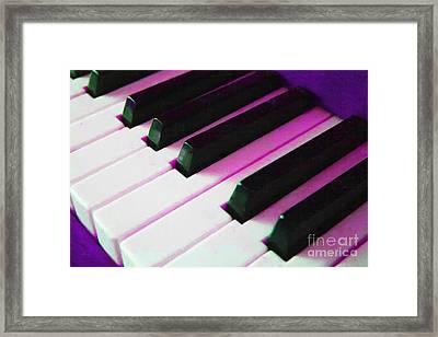 Piano Keys . V2 . Purple Framed Print by Wingsdomain Art and Photography