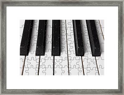 Piano Keys Jigsaw Framed Print by Garry Gay