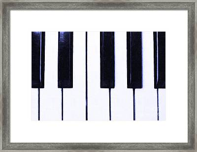 Piano Keys Framed Print by Wingsdomain Art and Photography