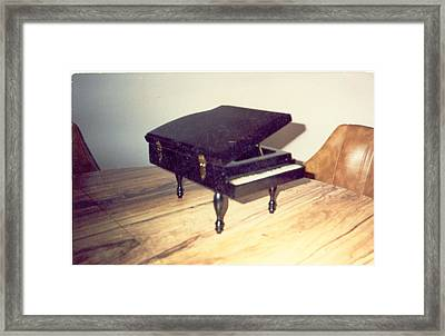 Piano Musical Box Framed Print by Val Oconnor