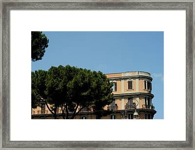 Piazza Cavour Framed Print
