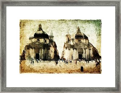 Piazza Del Popolo Framed Print by Andrea Barbieri