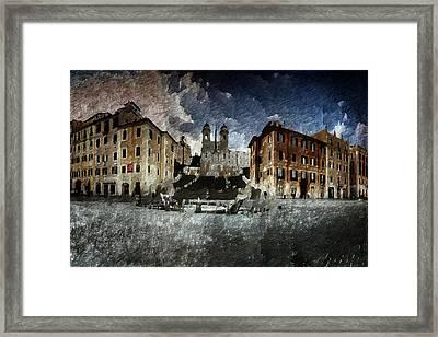 Piazza Di Spagna Framed Print by Andrea Barbieri
