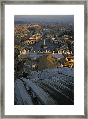 Piazza San Pietro As Seen From The Dome Framed Print by James L. Stanfield
