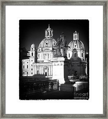 Piazza Shadows Framed Print by John Rizzuto