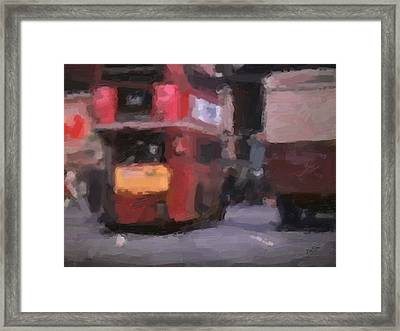Picadilly Circus Busy Traffic 1967 Framed Print