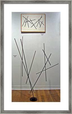 Pick Up Sticks And Thunderbird Framed Print by John Neumann