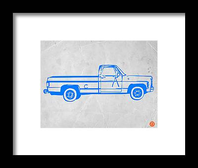 Old Chevy Truck Framed Prints