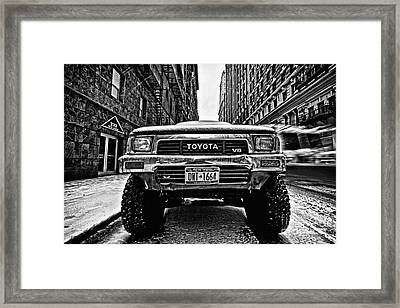 Pick Up Truck On A New York Street Framed Print by John Farnan