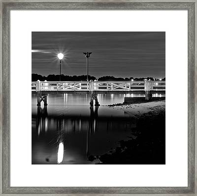 Picketted Jetty Framed Print by Mark Lucey
