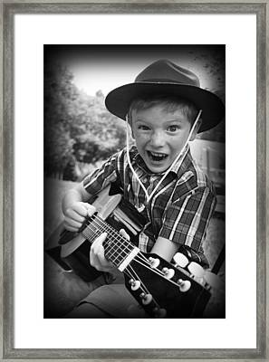 Framed Print featuring the photograph Pickin' by Kelly Hazel