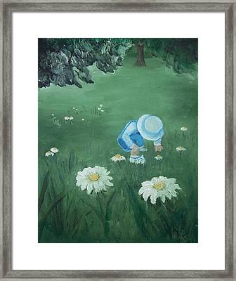 Picking Flowers Framed Print by Angela Stout