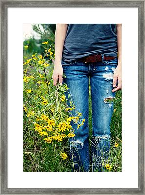 Picking Flowers Framed Print by Kim Fearheiley
