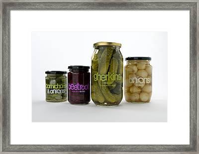 Pickled Vegetables Framed Print
