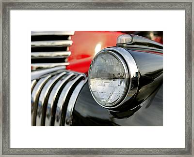 Pickup Chevrolet Headlight. Miami Framed Print