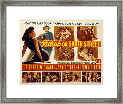 Pickup On South Street, Jean Peters Framed Print by Everett