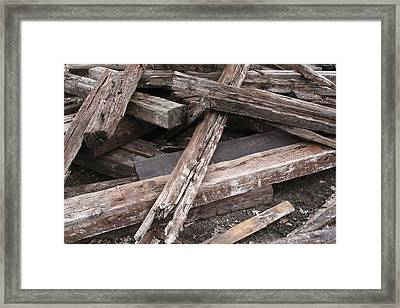 Pickup Sticks Framed Print by Odd Jeppesen