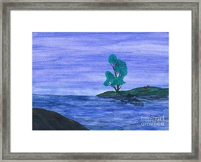 Picnic On The Point Framed Print by Robert Meszaros