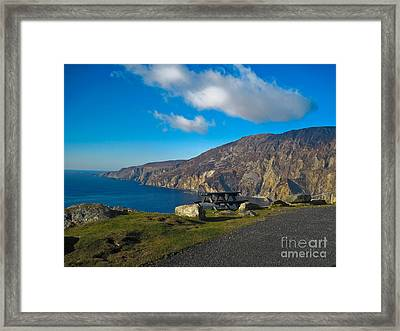 Picnic Time At Slieve League Ireland Framed Print by Black Sun Forge