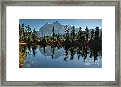 Picture Lake - Heather Meadows Landscape In Autumn Art Prints Framed Print by Valerie Garner