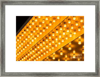 Picture Of Theater Lights Framed Print by Paul Velgos