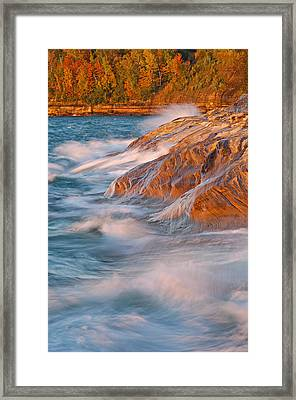 Pictured Rocks Lake Superior Framed Print by Dean Pennala