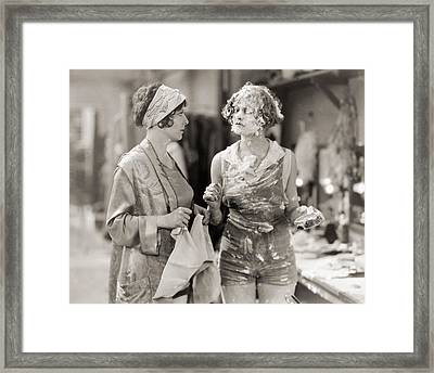 Pie In The Face Framed Print by Granger