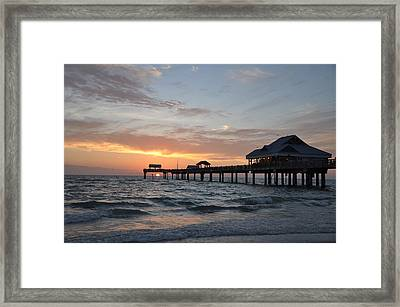 Pier 60 Clearwater Beach Florida Framed Print by Bill Cannon