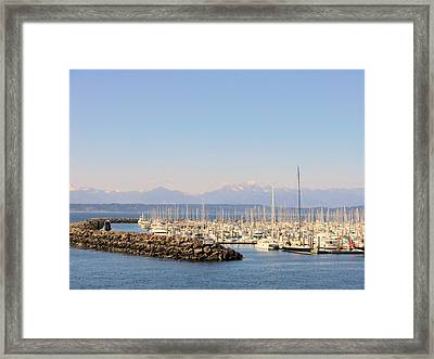 Pier 91 Seattle Washington Framed Print by Mindy Newman