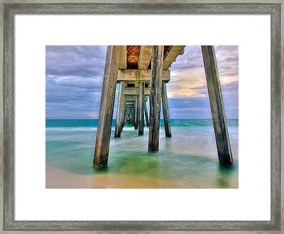Framed Print featuring the photograph Pier  by Anna Rumiantseva