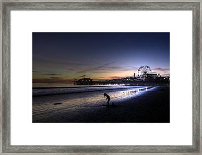 Pier Child Framed Print
