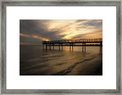 Pier  Framed Print by Cindy Haggerty